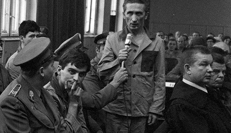 Zdzisław Marchwicki podczas procesu, 1975 r.
