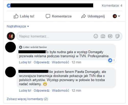 Odznaczenie Lider wśrod fanów na Facebooku