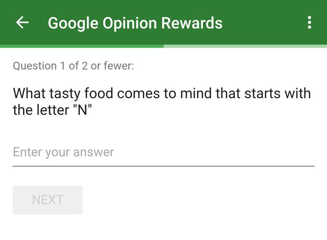 foto: Google Opinion Rewards