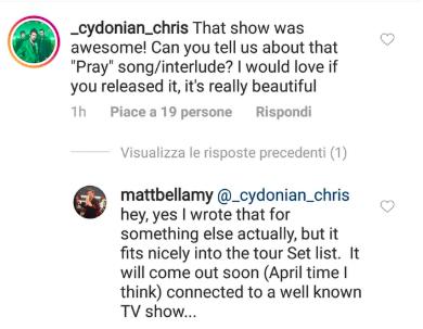 foto: Instagram Matt Bellamy
