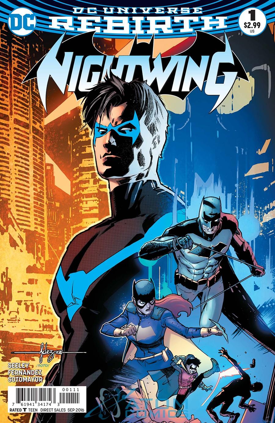 foto: okładka komiksu Rebirth: Nightwing #1