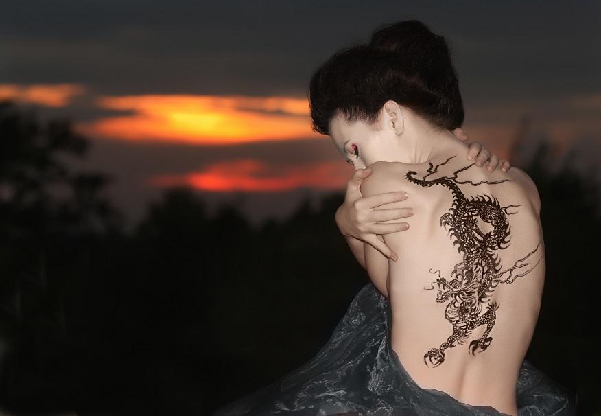 Tatuaż smok