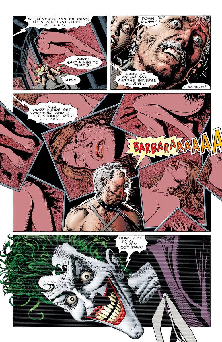 Batman: Zabójczy żart - kadr z komiksu
