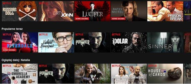 Front page Netflix, fot. zdjęcie własne