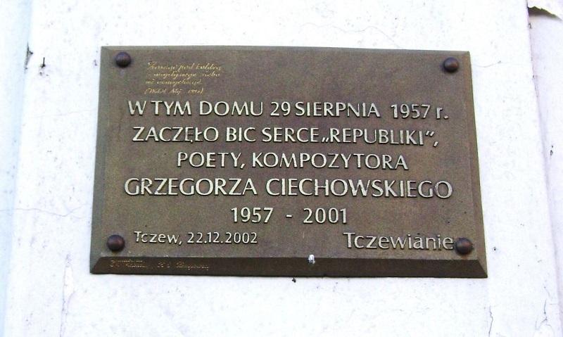 Grzegorz Ciechowski - tablica