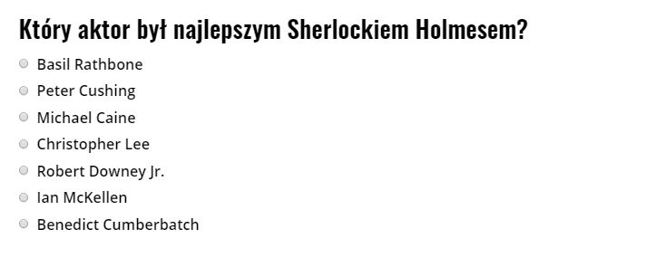 Sherlock Holmes aktorzy