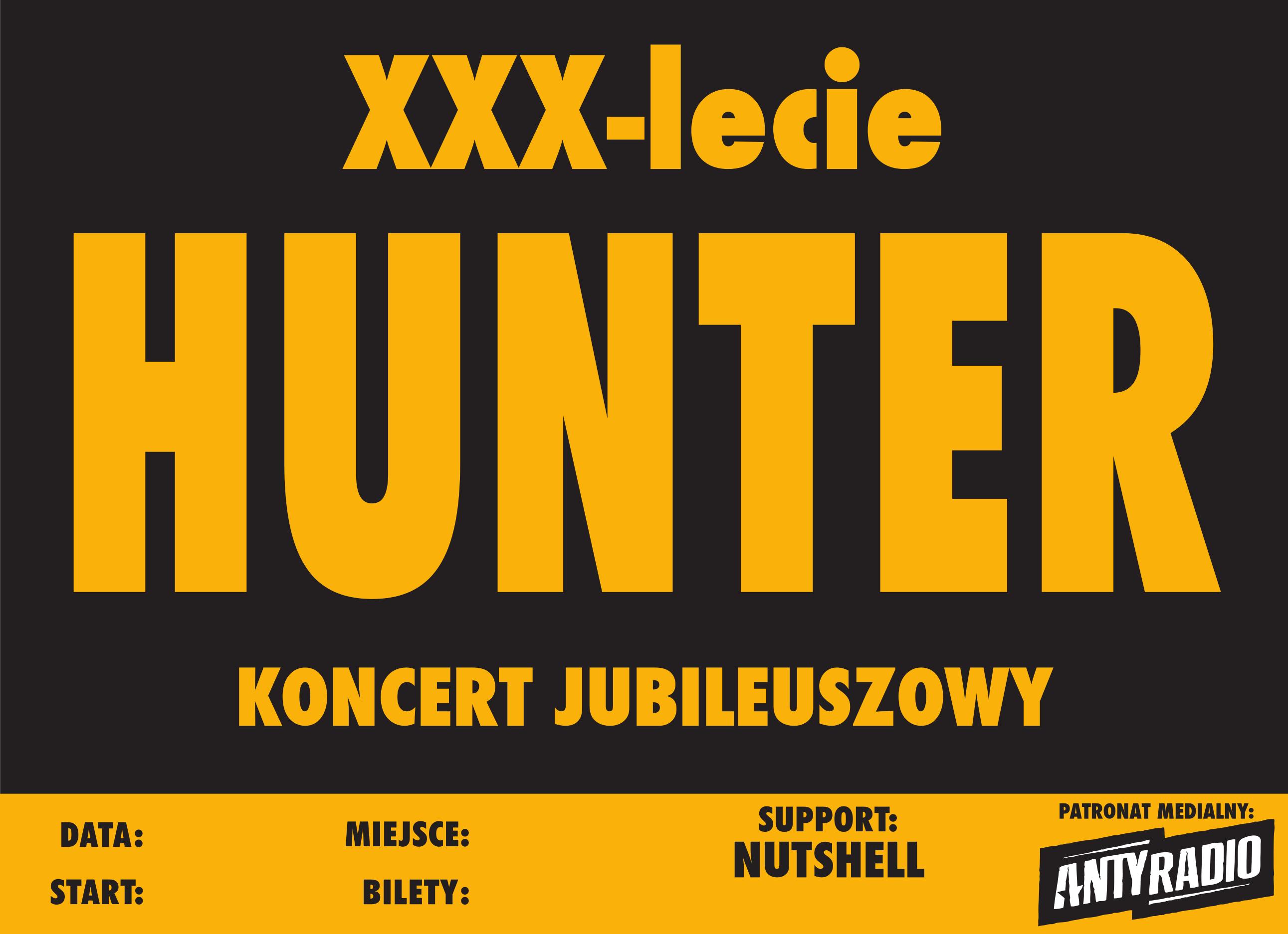HUNTER plakat koncertowy