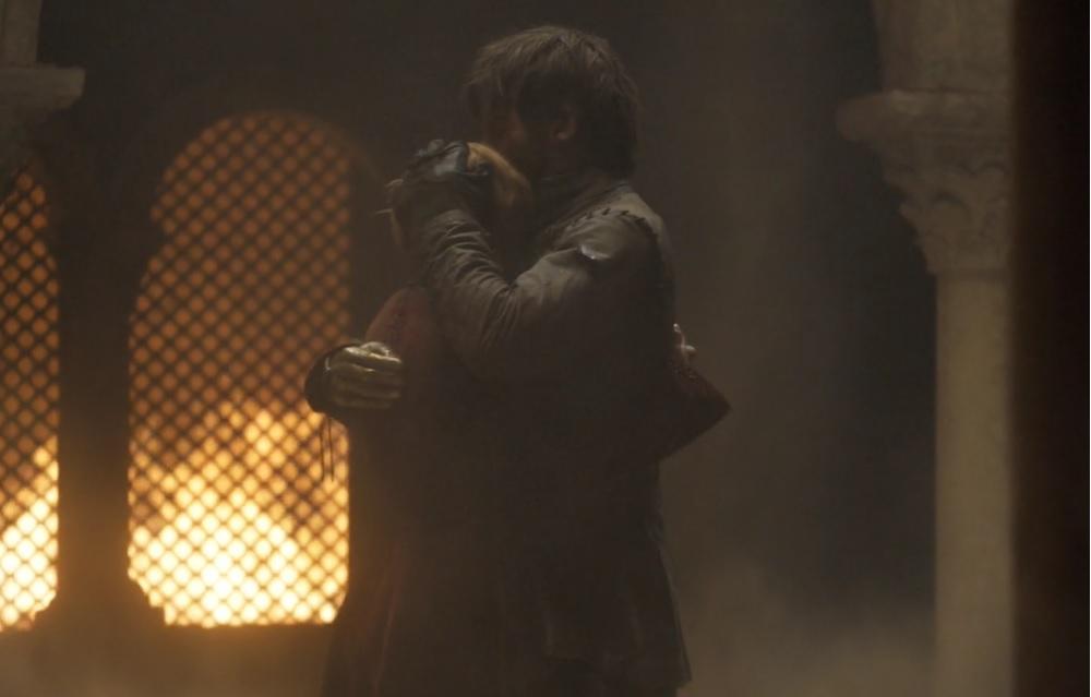 "Jaime i Cersei Lannister, foto: kadr z 5. odcinka 8. sezonu ""Gry o tron"""