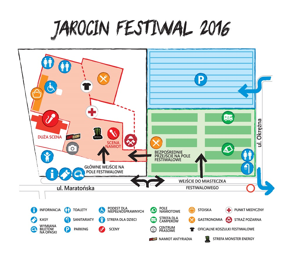 Jarocin Festiwal 2016 - mapa