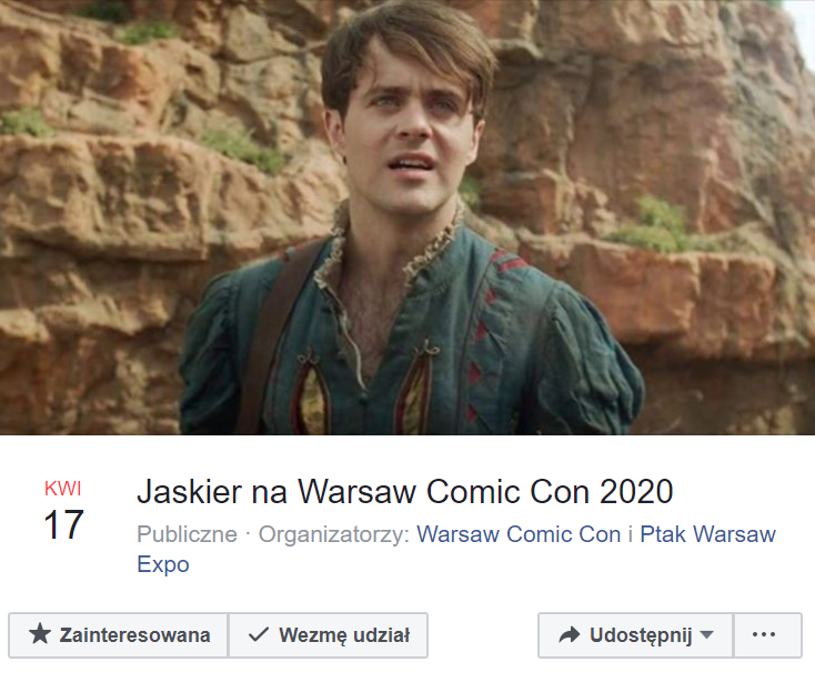 Jaskier na Warsaw Comic Con