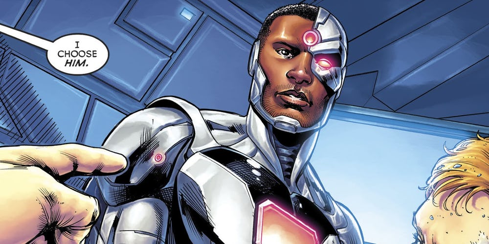 Cyborg w komiksie Justice League vol. 3 #38