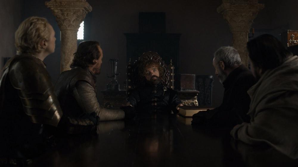 """Mała Rada króla Brana Starka, foto: kadr z 6. odcinka 8. sezonu """"Gry o tron"""""""