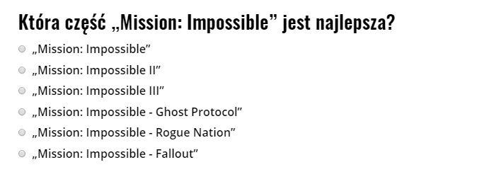 Mission Impossible ranking filmów