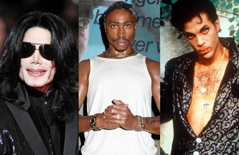 Michael Jackson, TuPac,Prince