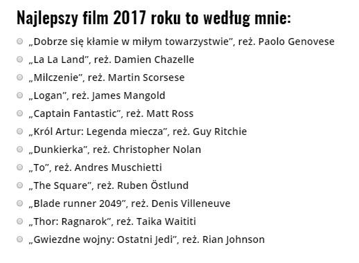 najlepszy film 2017 sonda