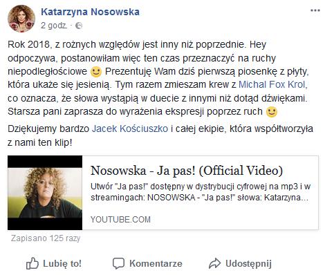 nosowska post