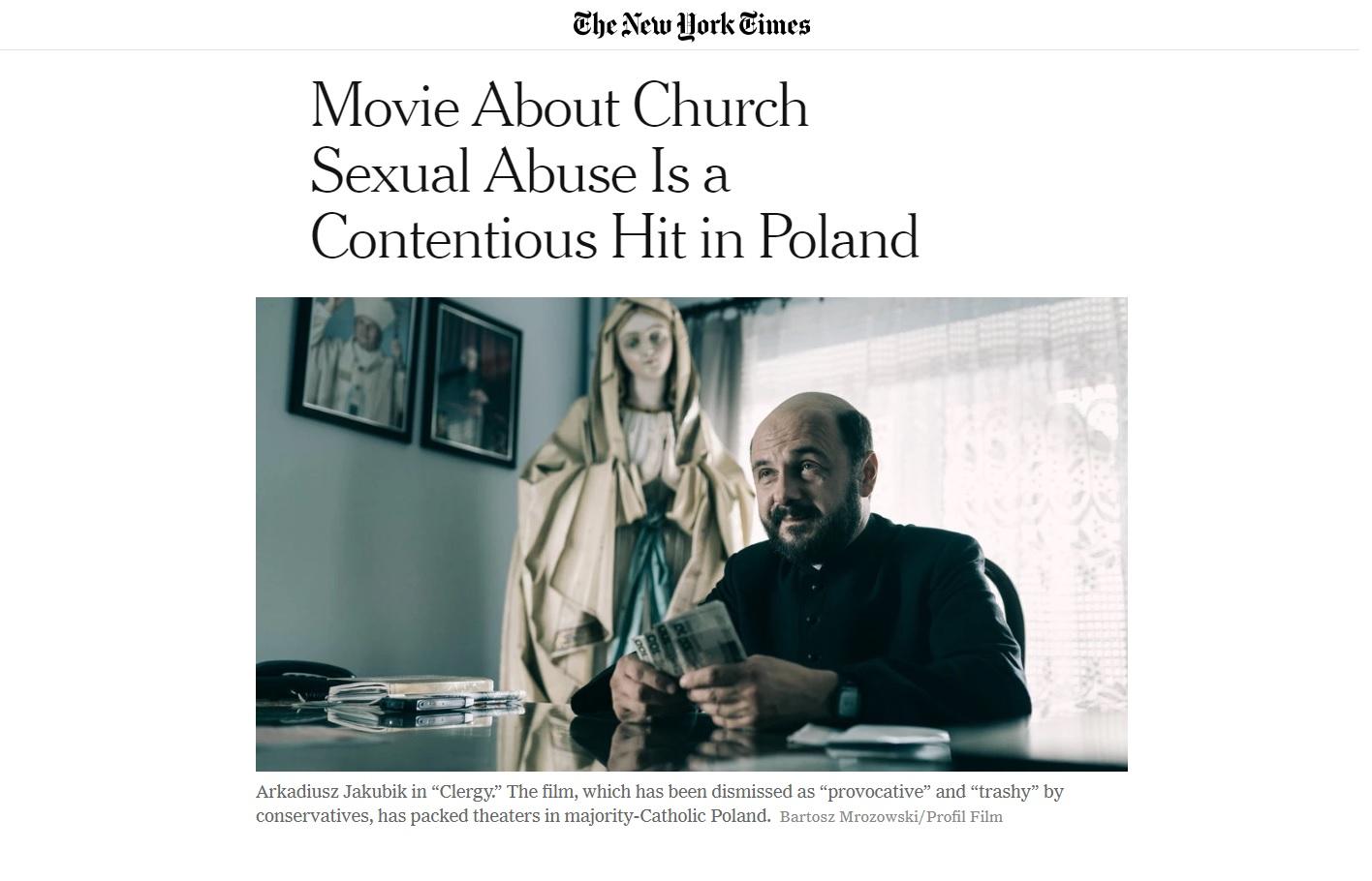 New York Times o Klerze Smarzowskiego
