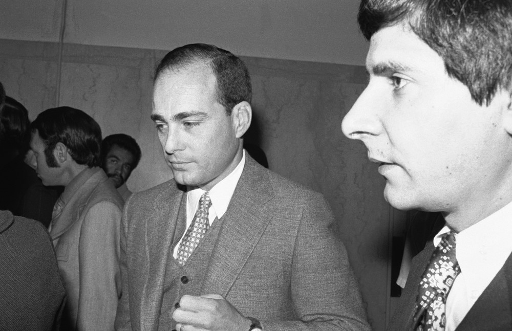 Prokurator Vincent Bugliosi w sądzie w Los Angeles 24 lipca 1970 roku. Foto: ASSOCIATED PRESS/East News