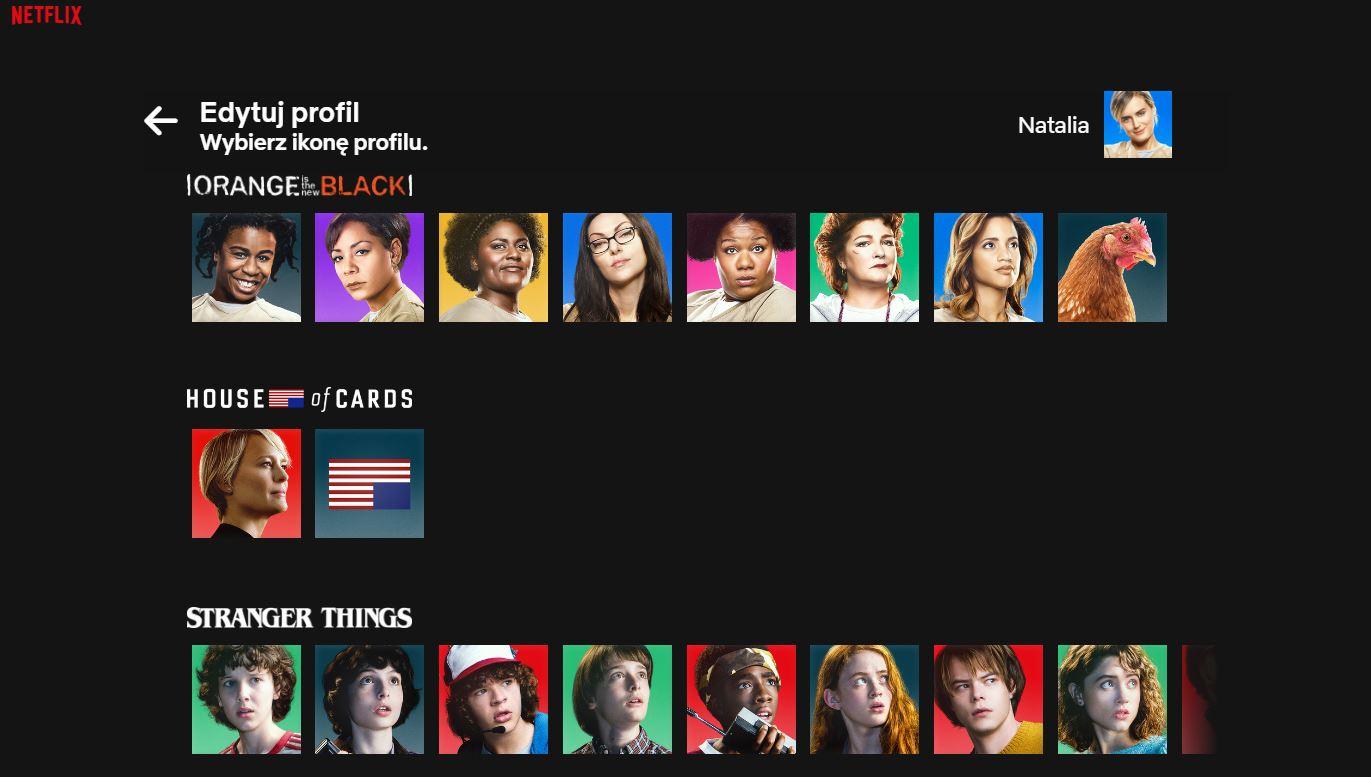 Netflix awatary