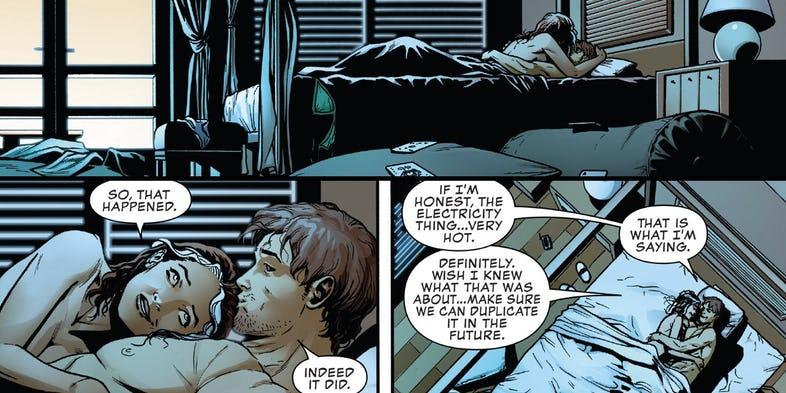 Rogue i Gambit uprawiają seks
