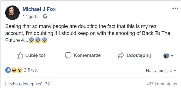 screen z Facebooka