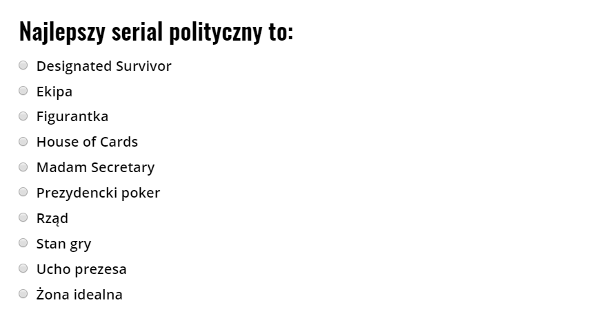 seriale polityczne sonda