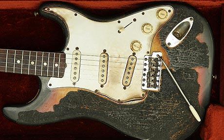spalona gitara