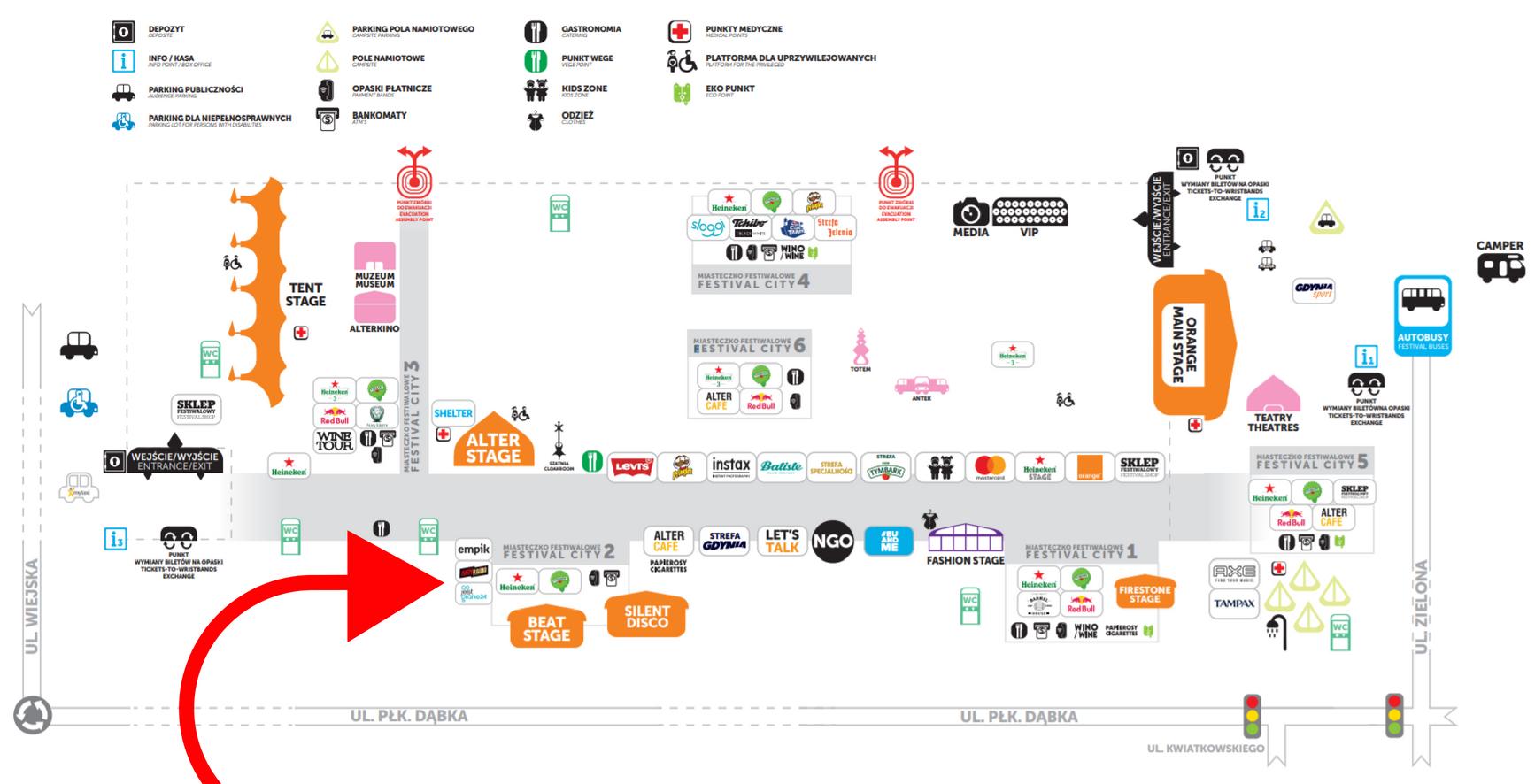 foto: Mapa Open'er Festival 2018