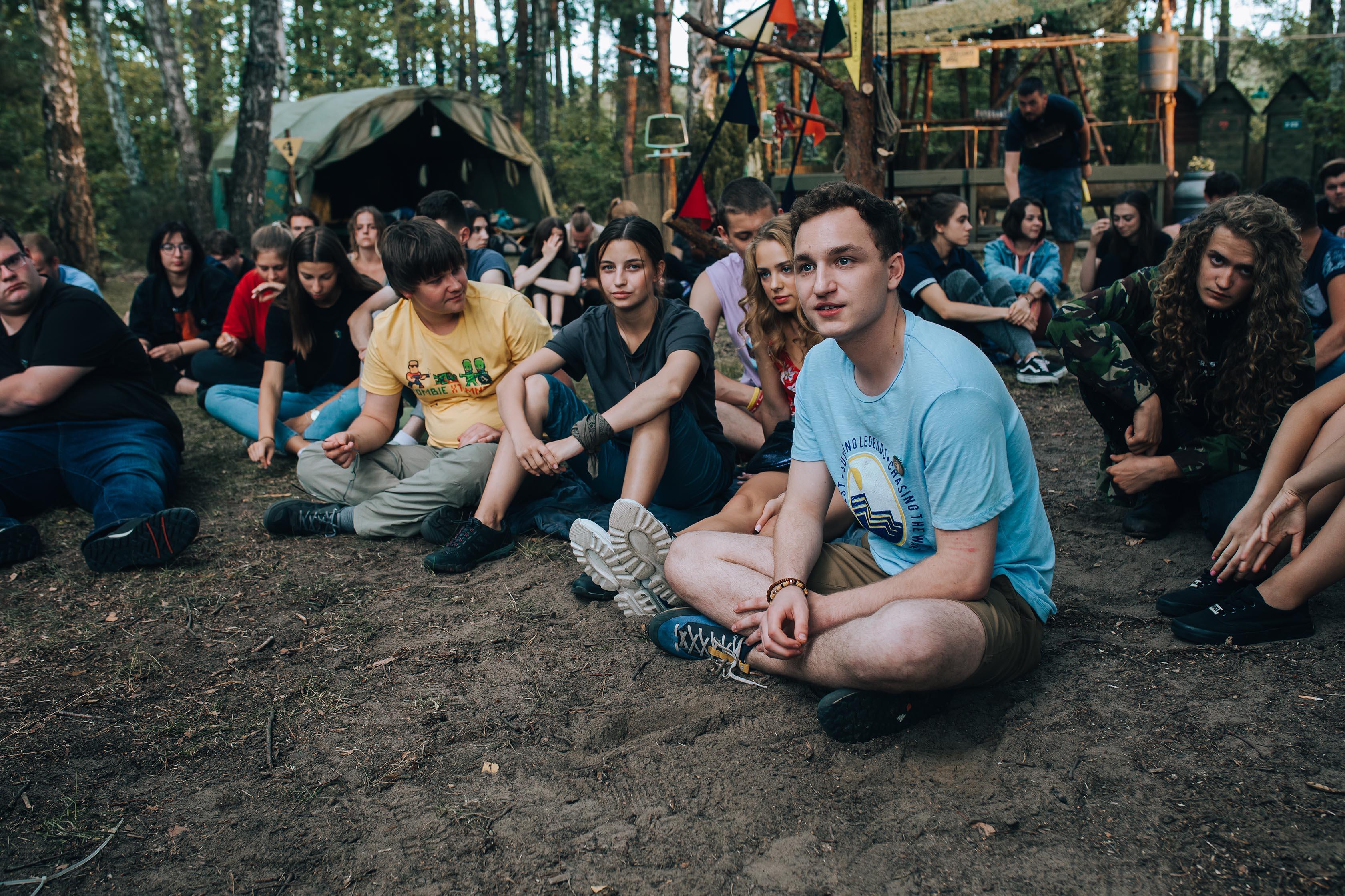 W lesie dziś nie zaśnie nikt - uczestnicy obozu