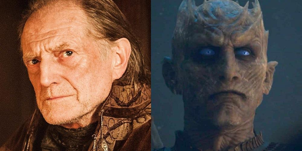 """Walder Frey i Nocny Król, foto: materiały prasowe, kadr z 3. odcinka 8. sezonu """"Gry o tron"""""""