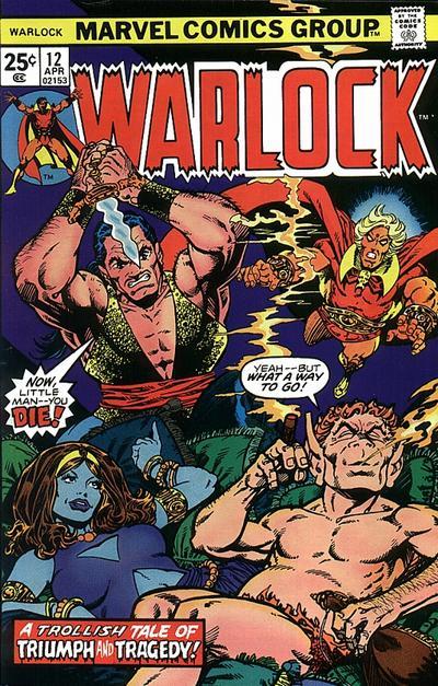 Okładka komiksu Warlock vol. 1 #12