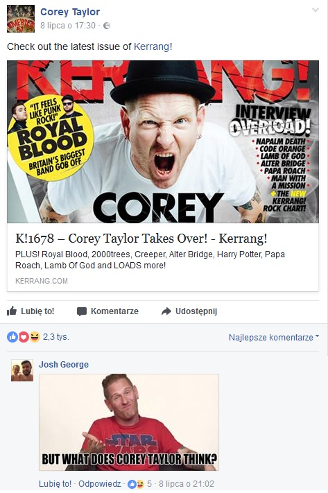 what does corey taylor