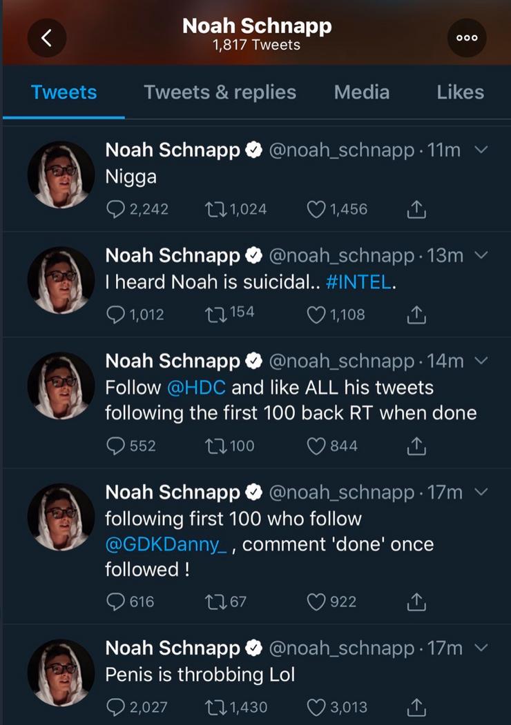 Włamanie na Twittera Noah Schnappa
