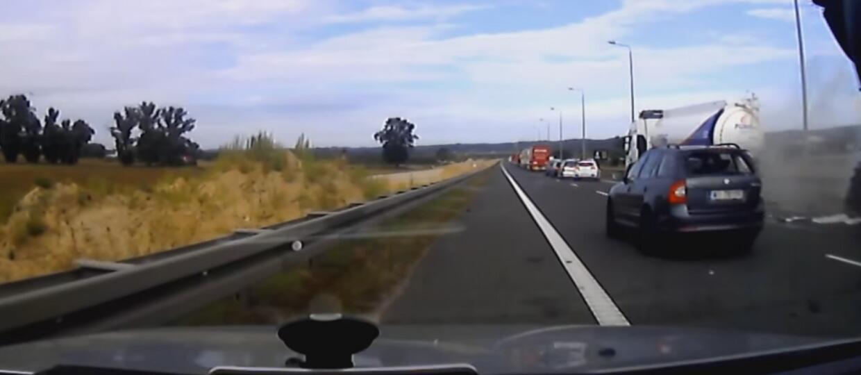 Czujni kierowcy uniknęli groźnego wypadku