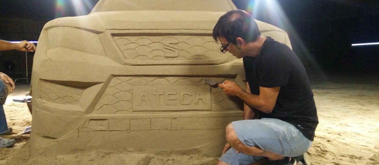 Seat Ateca zbudowany z… piasku