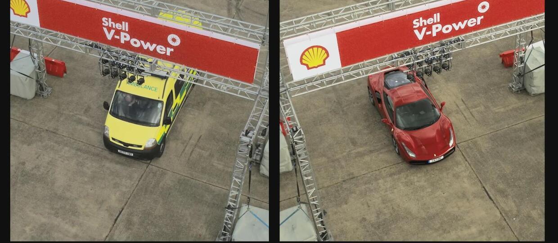 Sebastian Vettel kontra kierowca ambulansu