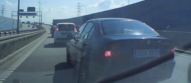 Szeryf w BMW nastraszył kierowcę
