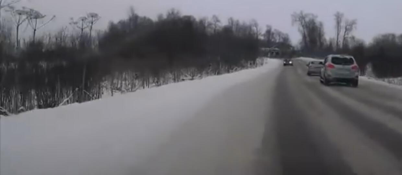 Wypadek przez brawurę i złe warunki drogowe