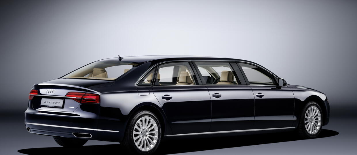 Audi A8 L Extended mierzy 6,36 m
