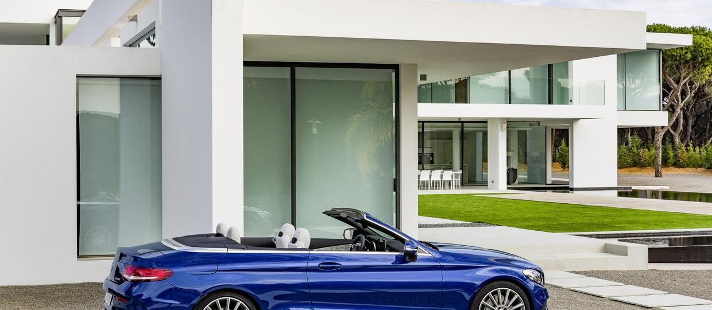 Mercedes klasy C w nadwoziu kabriolet