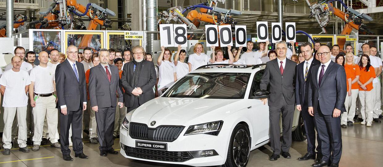 Skoda wyprodukowała 18 milionów aut od 1905 roku
