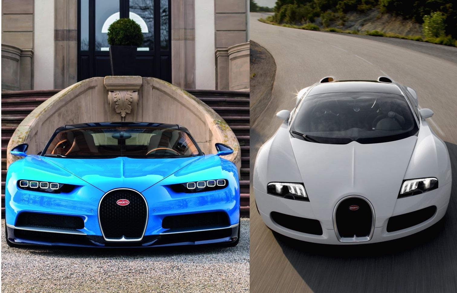 bugatti chiron vs bugatti veyron. Black Bedroom Furniture Sets. Home Design Ideas
