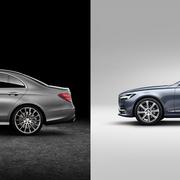 Mercedes klasy E vs Volvo S90