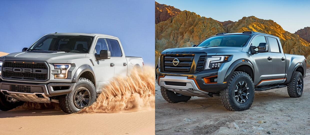 Nissan Titan Warrior vs Ford F-150 Raptor SuperCrew