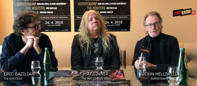 "Eric Bazilian (The Hooters), John Helliwell (Supertramp) i Mat Sinner zdradzają szczegóły koncertów ""Rock Meets Classic"""