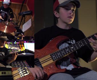 """13-latek wykonał """"Orion"""" Metalliki na wszystkich instrumentach"""
