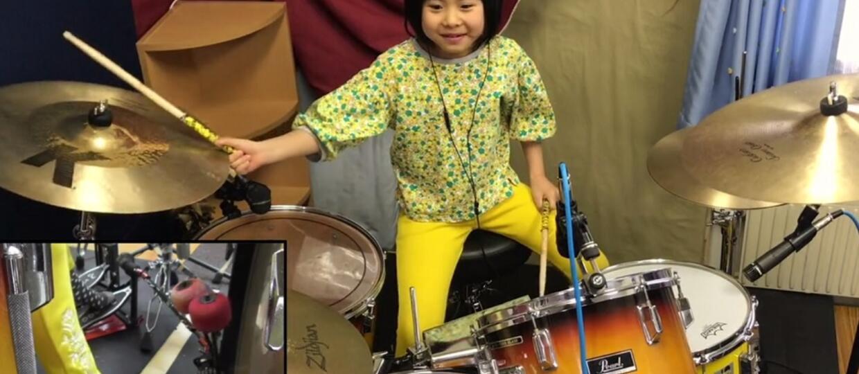 8-letnia perkusistka Led Zeppelin