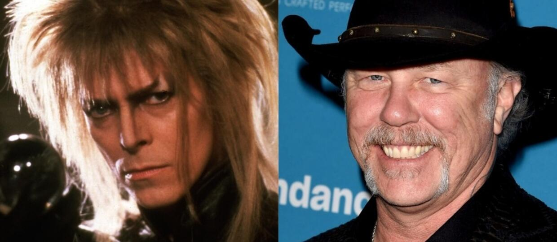 David Bowie i James Hetfield