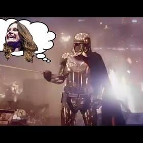 Kadr ze Star Wars i Ozzy Osbourne z Black Sabbath