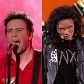 Andrzej Młynarczyk jako The Clash i Anna Guzik jako Michael Hutchence INXS
